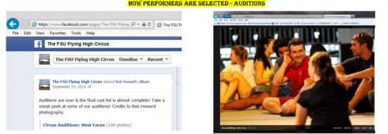 "Figure 6: Eportfolio Screenshot ""How Performers are Selected – Auditions"""