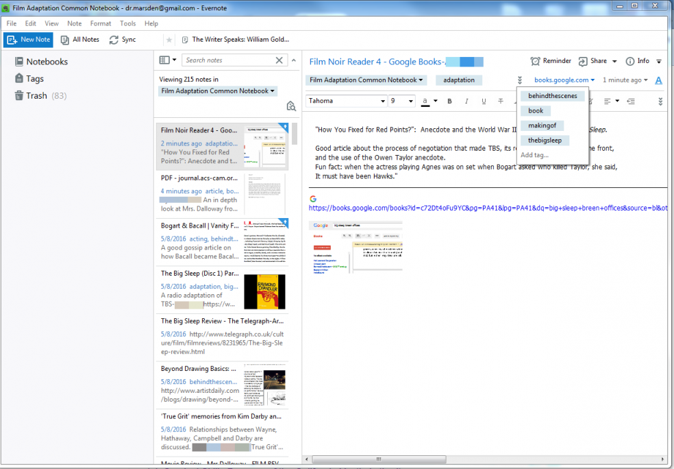 Figure 3: A Shared Folder of Student-clipped Research